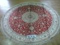 圓形手工真絲波斯地毯 圓形真絲