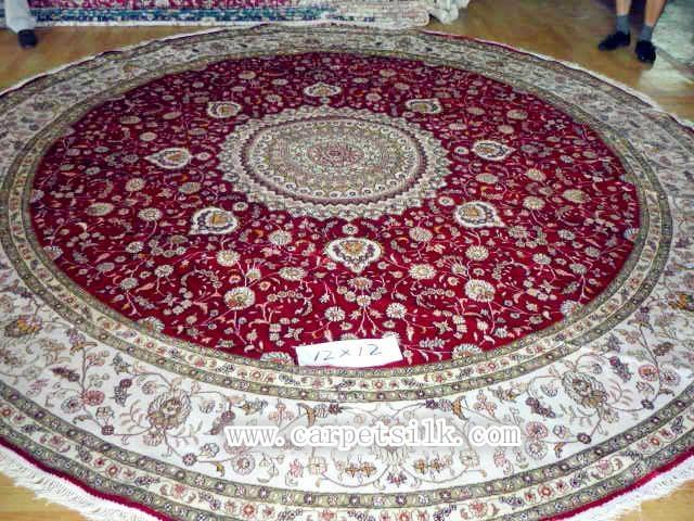 supply round handmade silk carpet 12x12 ft American carpet 1