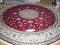 生产手工园形手工地毯12x12