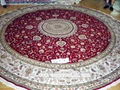 supply round handmade silk carpet 12x12