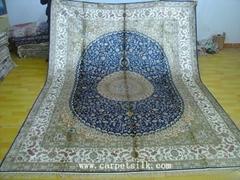 亚美汇美供应奢华手工真丝波斯地毯9x12ft  古典地毯  艺术地毯