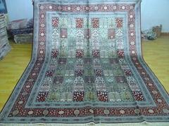 手工古典地毯9x12ft 真丝波斯挂毯 酒店地毯