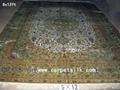 手工真丝波斯地毯 100% 天然蚕丝 艺术挂毯 古典地毯 1