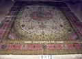 手工真丝波斯地毯 100% 天然蚕丝 艺术挂毯 古典地毯 4