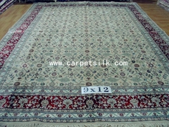 124 session Canton Fair wholesale supply persian handmade silk carpet size 9x12