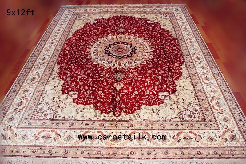 生产手工金丝地毯9x12ft 真丝挂毯 2