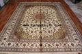 生產手工真絲波斯地毯9x12f