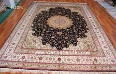生產 ,批發,特供 9x12ft 手工真絲波斯地毯 挂毯