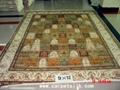 手工真絲波斯地毯 9x12ft 波斯富貴圖案 藝朮地毯 1