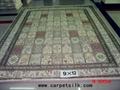 波斯富贵图案手工真丝 波斯地毯