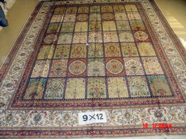 手工地毯 丝绸波斯地毯 9x12ft  波斯艺术地毯 1