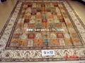 手工丝绸地毯 波斯图案 9x12ft  批发零售在亚美地毯厂 2