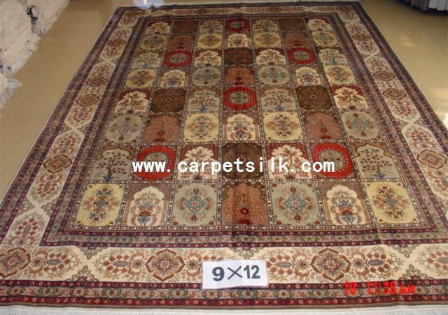 手工丝绸地毯 波斯图案 9x12ft  批发零售在亚美地毯厂 3