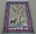 High quality Muslim silk prayer blanket