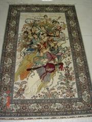 藝朮挂毯 華麗地毯 家庭裝飾品 古董收藏品(仙女爭艷)