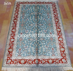 natural plant dyeing silk carpet 3x5 ft