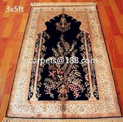 供应艺术地毯 祈祷毯子 伊朗地毯 天然蚕丝挂毯
