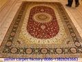 Persian Silk Carpet 6x9ft