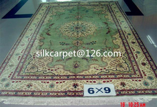 亚美手工波斯地毯 真丝地毯 6x9 ft 专业生产美国高级客厅 2