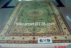 手工波斯地毯 真丝地毯 6x9 ft 专销美国高级地毯,