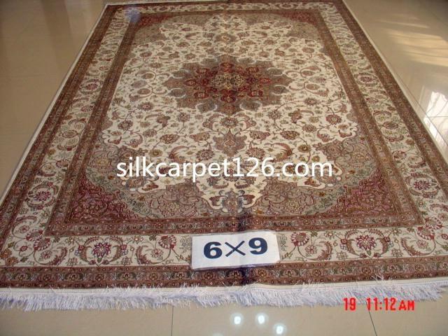 让世界爱上亚美地毯 优惠供应波斯真丝地毯 6x9 ft  2