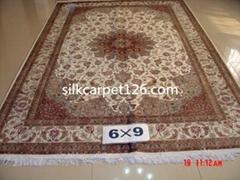 让世界爱上亚美地毯 手工波斯真丝地毯 6x9 ft 优惠