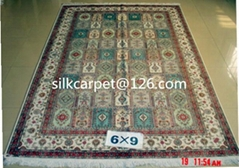 handmade persian silk carpet 6x9 ft