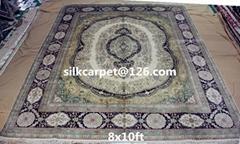 生產精工手工編織波斯地毯8X10