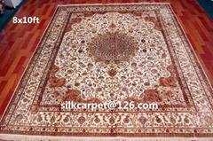 广州最好的手工波斯地毯 8X10 ft 订制挂毯 真丝地毯