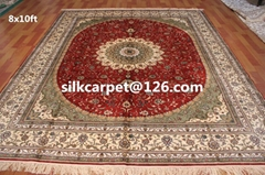 Special offer handmade persian silk carpets size 8X10 ft