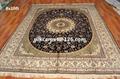 優質手工絲綢波斯真絲地毯-8X