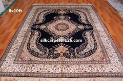 供应手工打结真丝地毯 艺术地毯 适用法国家庭 办公室地毯