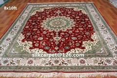 波斯地毯8X10 ft 仿古地毯 手工打结真丝地毯