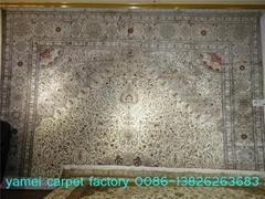 受人尊敬的專供大尺寸手工天然蠶絲波斯地毯 14x20ft