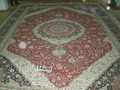 handmade persian silk carpets 20X14 FT