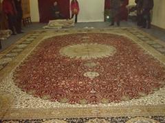 供巨型手工波斯地毯 广交会热抢挂毯 沙特阿拉伯图案 今日8折