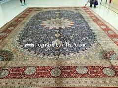 size12x18 ft China best handmade persian silk carpet