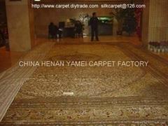 亚美承接大型手工地毯14x20 ft 总统专用真丝波斯地毯