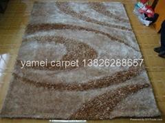 中国淅川亚美地毯厂生产毛茸茸的地毯 长毛地毯