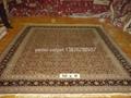 迎新年工廠供應絲綢和羊毛地毯