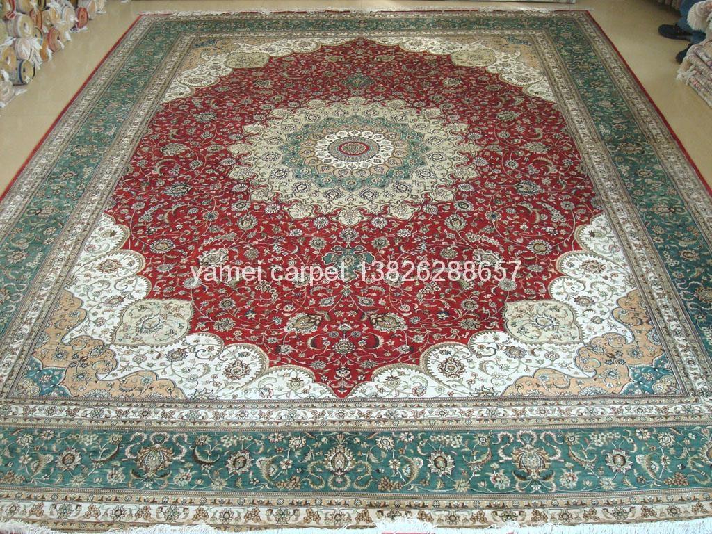 手工波斯地毯王国 广州交易会金丝地毯  1