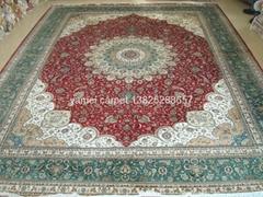拉脱维亚 Latvia 手工波斯地毯王国 124 广州交易会金丝地毯