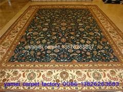 亚美批发 手工真丝地毯10x14ft 波斯地毯