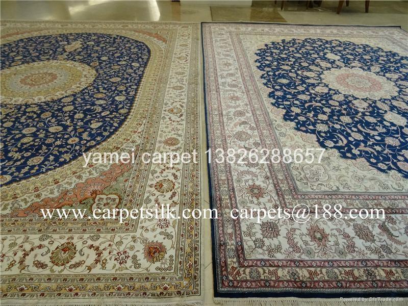 拉脱维亚 Latvia 手工波斯地毯王国 广州交易会金丝地毯  2