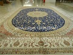 今日批發手工真絲波斯地毯,金絲地毯和挂毯 真絲地毯