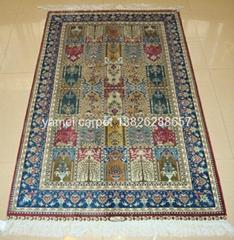 沙特阿拉伯地毯 祈禱毯子 3X5 ft 天然植物染色地毯