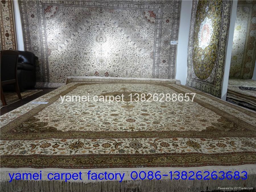 同奔馳一樣品質手工波斯 古典圖案 真絲地毯 1