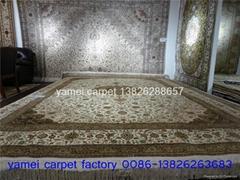 真丝波斯富贵-同奔驰一样品质的手工波斯 古典图案 真丝地毯