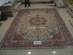 亞美地毯倉庫在廣州大石街南大路2號 批發真絲波斯地毯