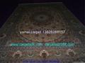手工天然蚕丝波斯艺术挂毯 2